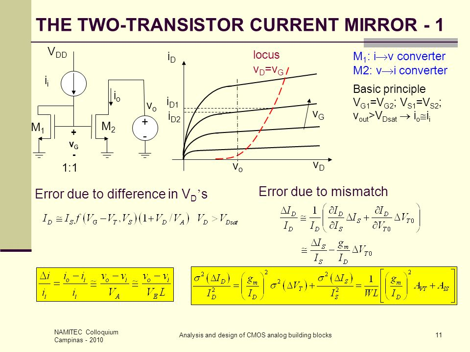 THE TWO-TRANSISTOR CURRENT MIRROR - 1