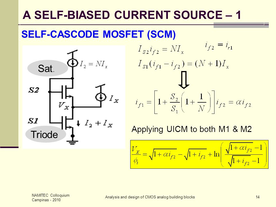 A SELF-BIASED CURRENT SOURCE – 1