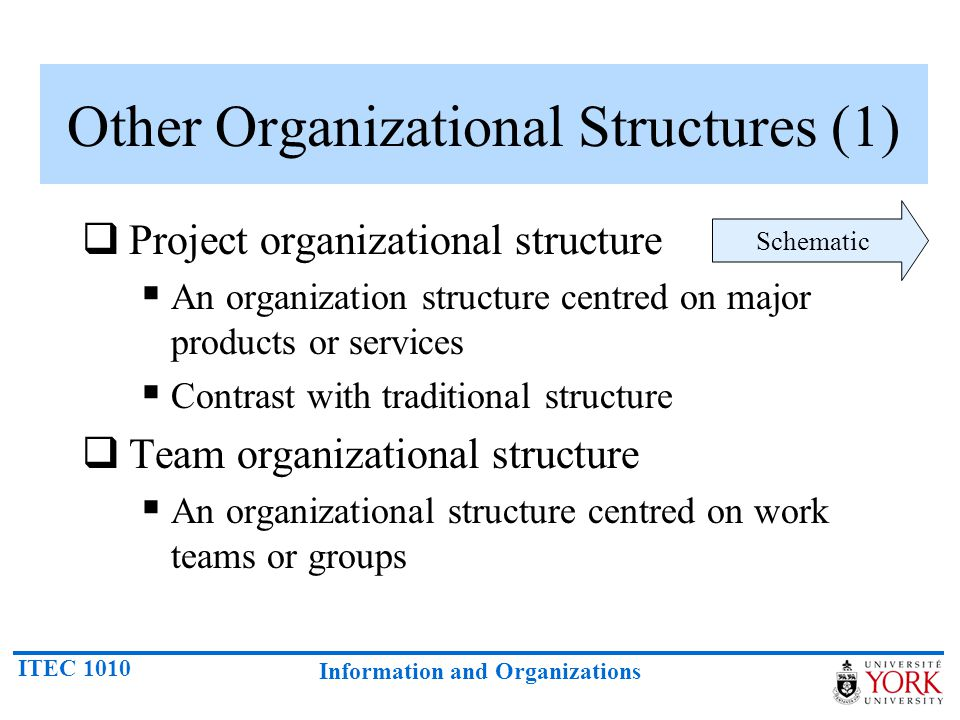 Other Organizational Structures (1)
