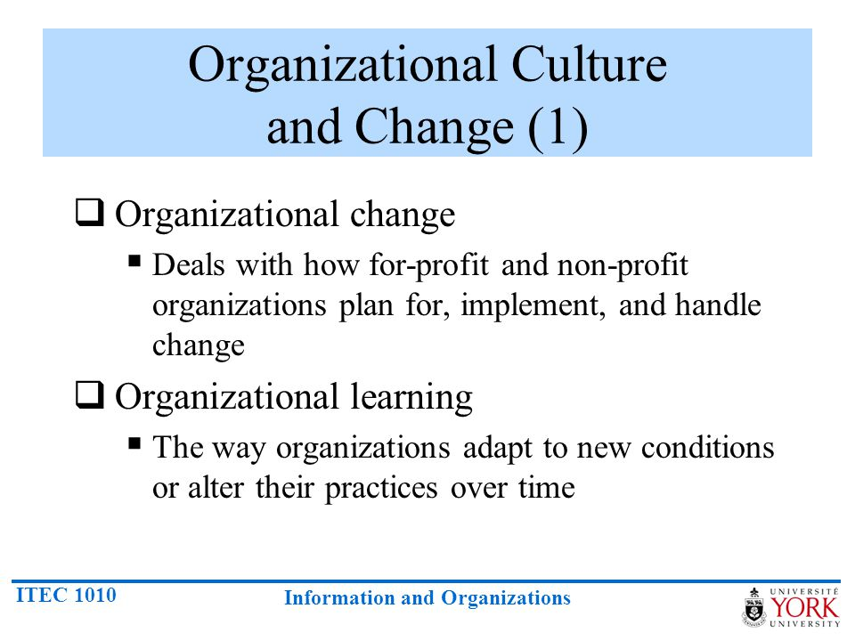 Organizational Culture and Change (1)