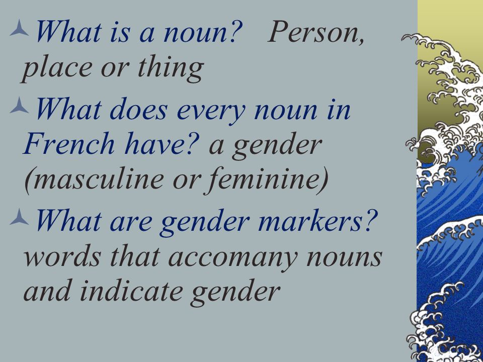 What is a noun Person, place or thing