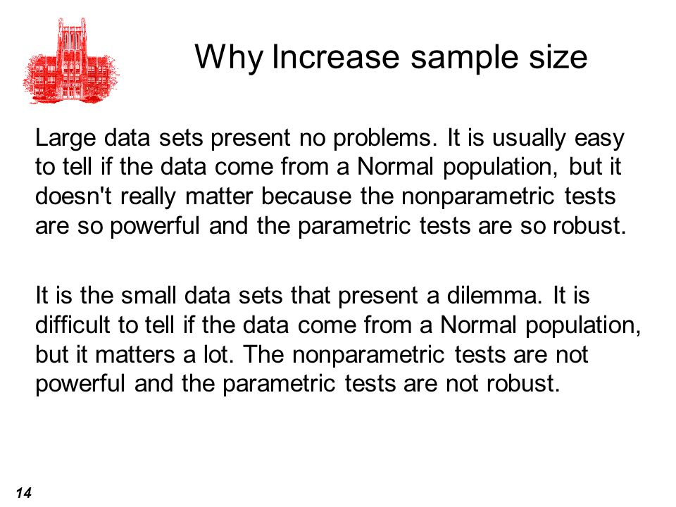 Why Increase sample size