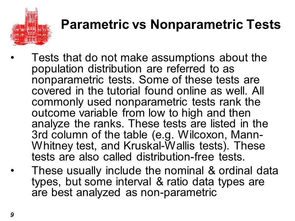 Parametric vs Nonparametric Tests
