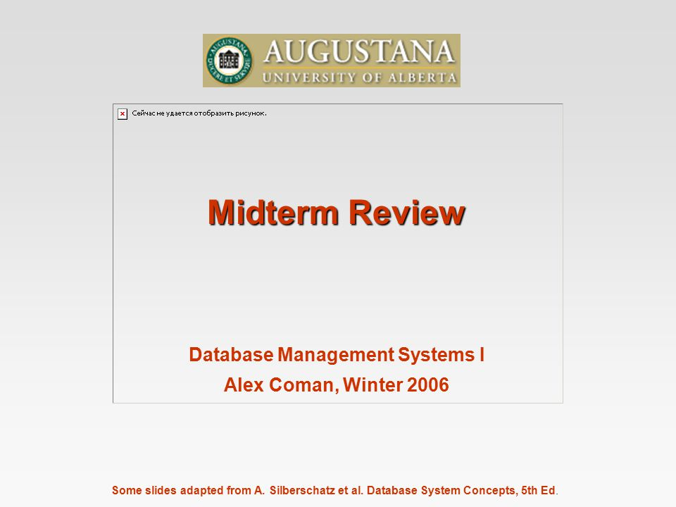 Database Management Systems I Alex Coman Winter Ppt Video