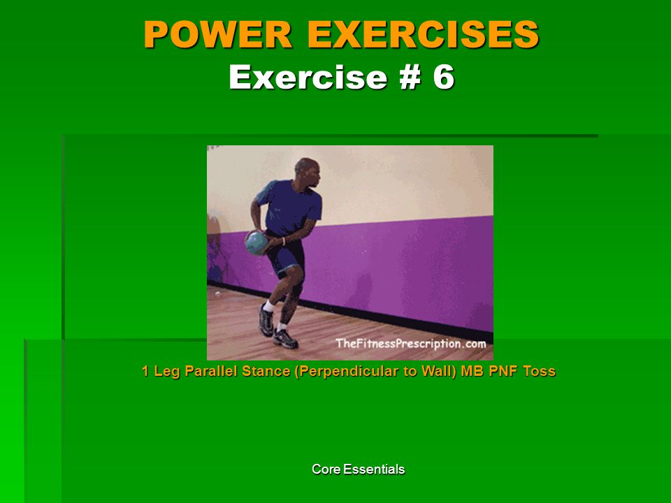 POWER EXERCISES Exercise # 6