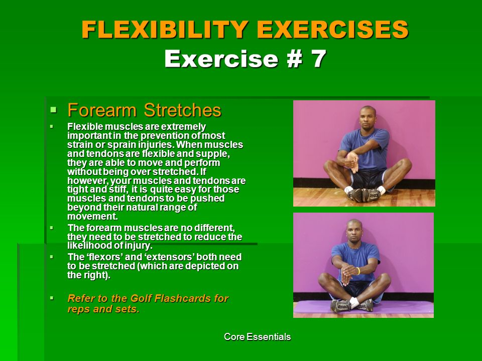FLEXIBILITY EXERCISES Exercise # 7