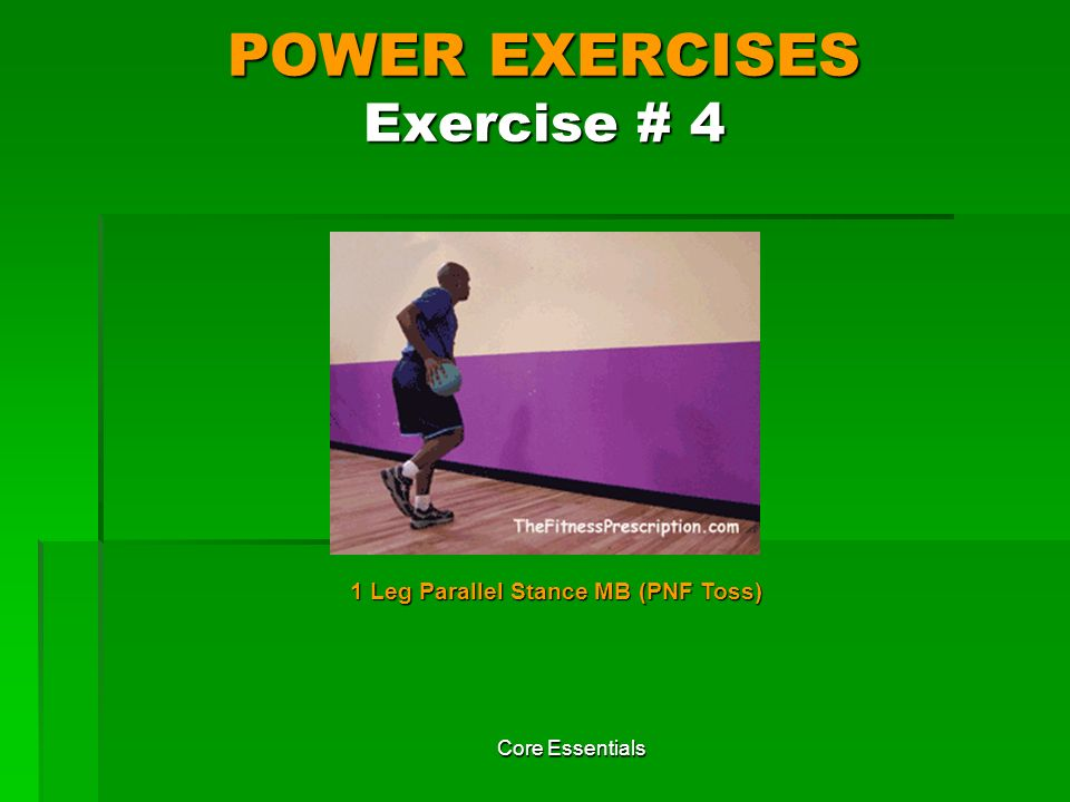 POWER EXERCISES Exercise # 4