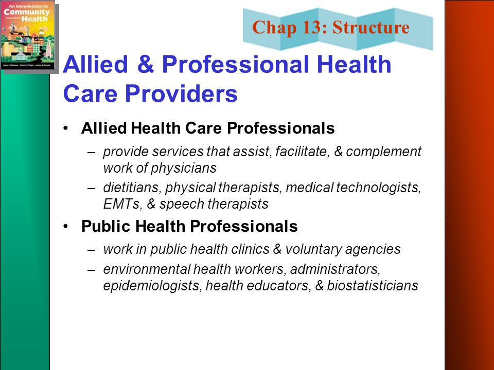 Allied & Professional Health Care Providers