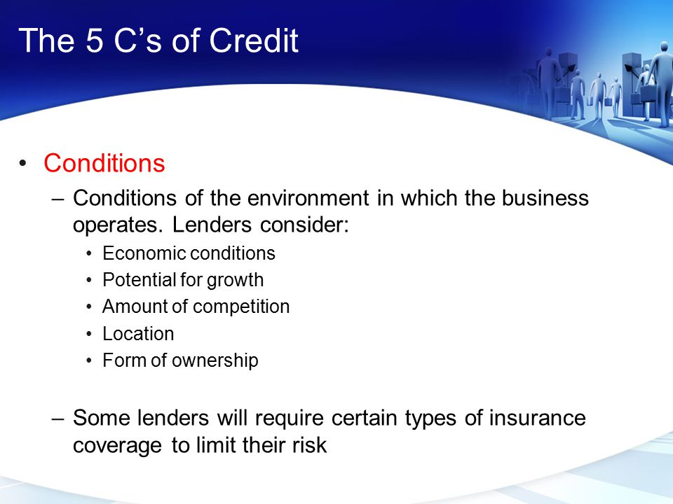 The 5 C's of Credit Conditions