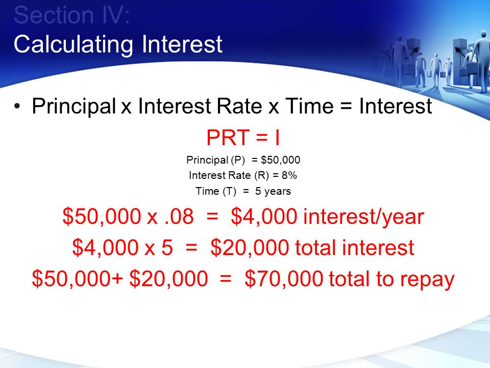 Section IV: Calculating Interest