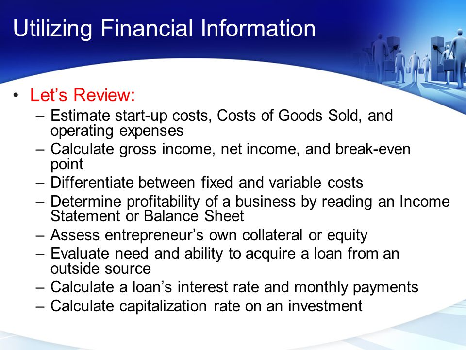 Utilizing Financial Information