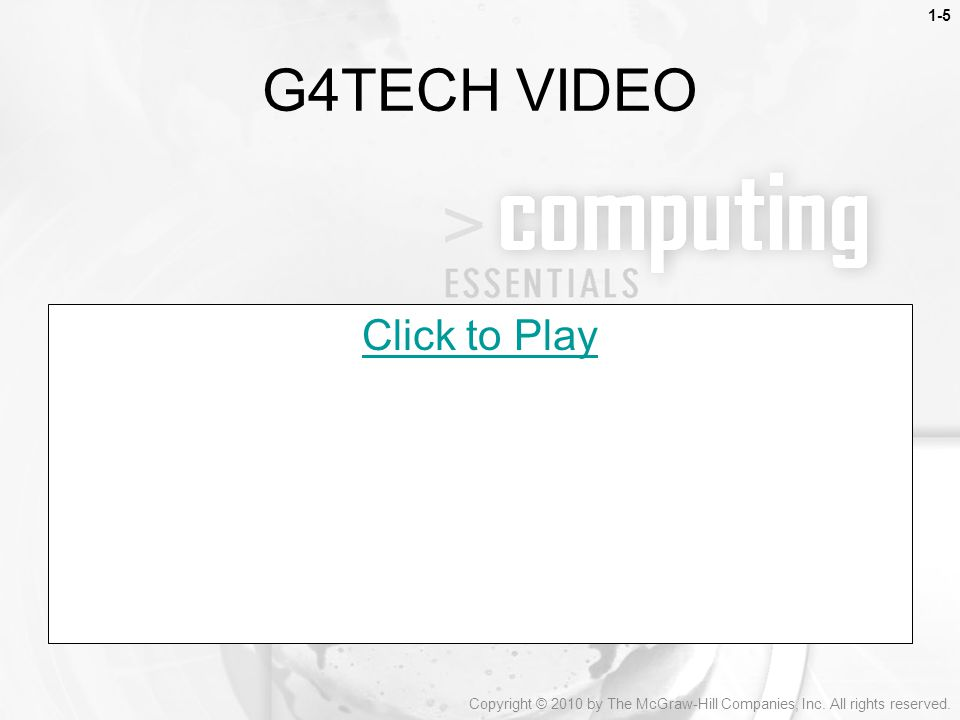 G4TECH VIDEO Click to Play