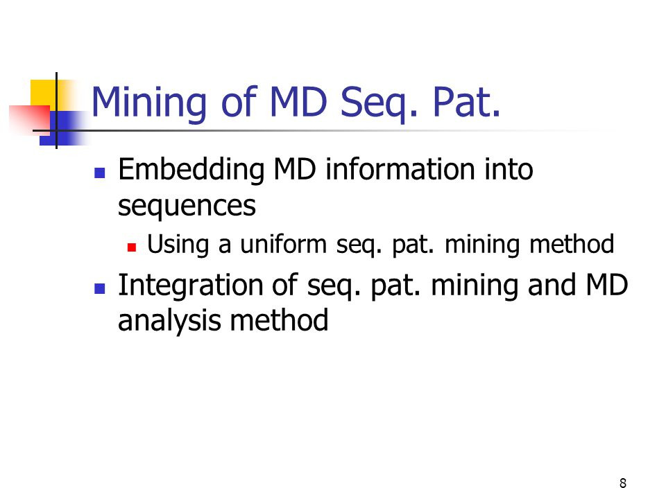 Multi-dimensional Sequential Pattern Mining - ppt download