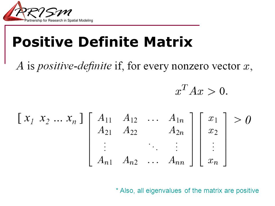 Positive Definite Matrix