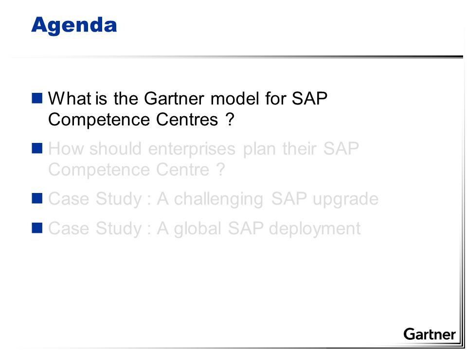 Gartner Best Practice for SAP Competence Centre Planning