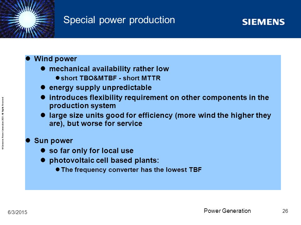 Special power production