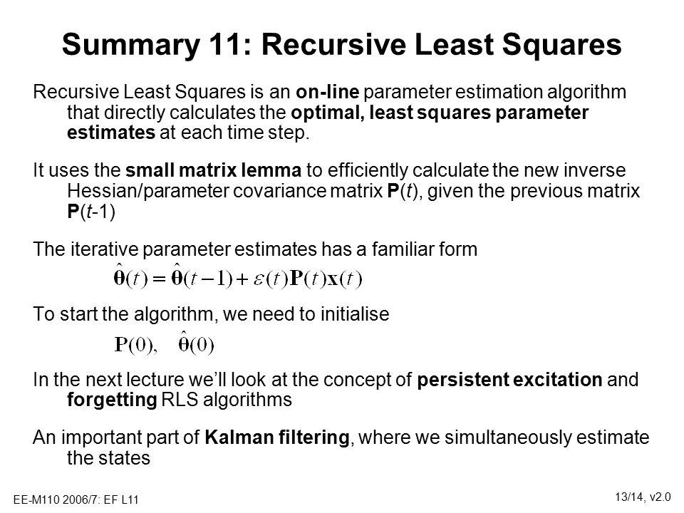 Lecture 11: Recursive Parameter Estimation - ppt download