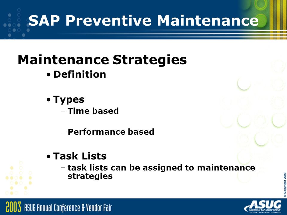 SAP Preventive Maintenance An Overview - ppt download
