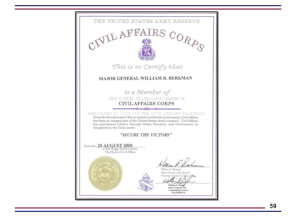 William R  Berkman Major General (Retired) Army of the