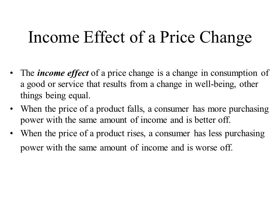 Income Effect of a Price Change