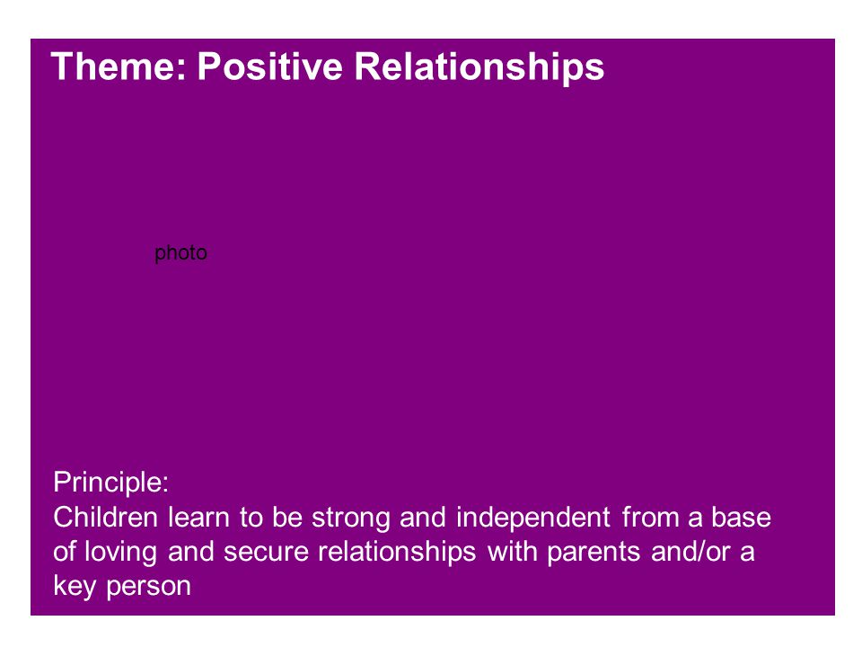 Theme: Positive Relationships