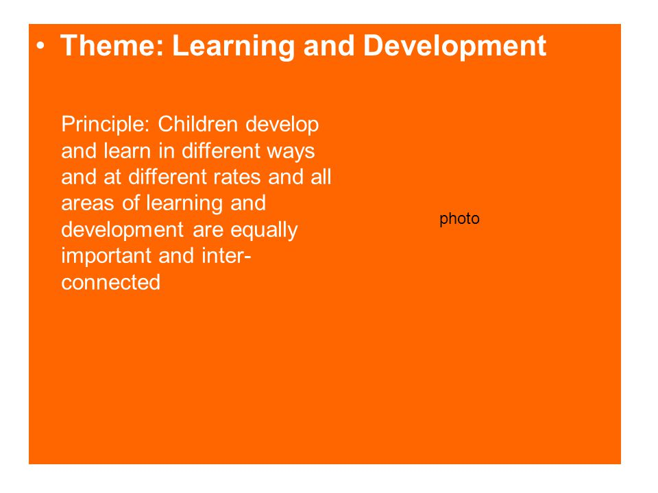Theme: Learning and Development