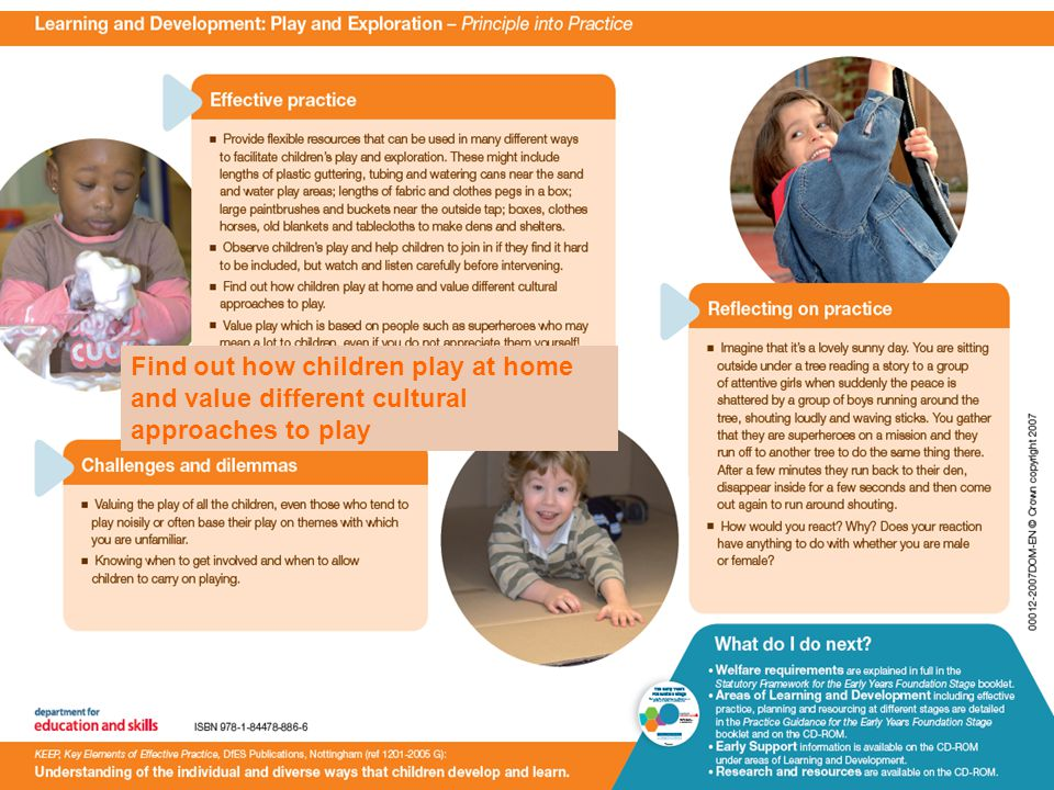 Find out how children play at home and value different cultural approaches to play