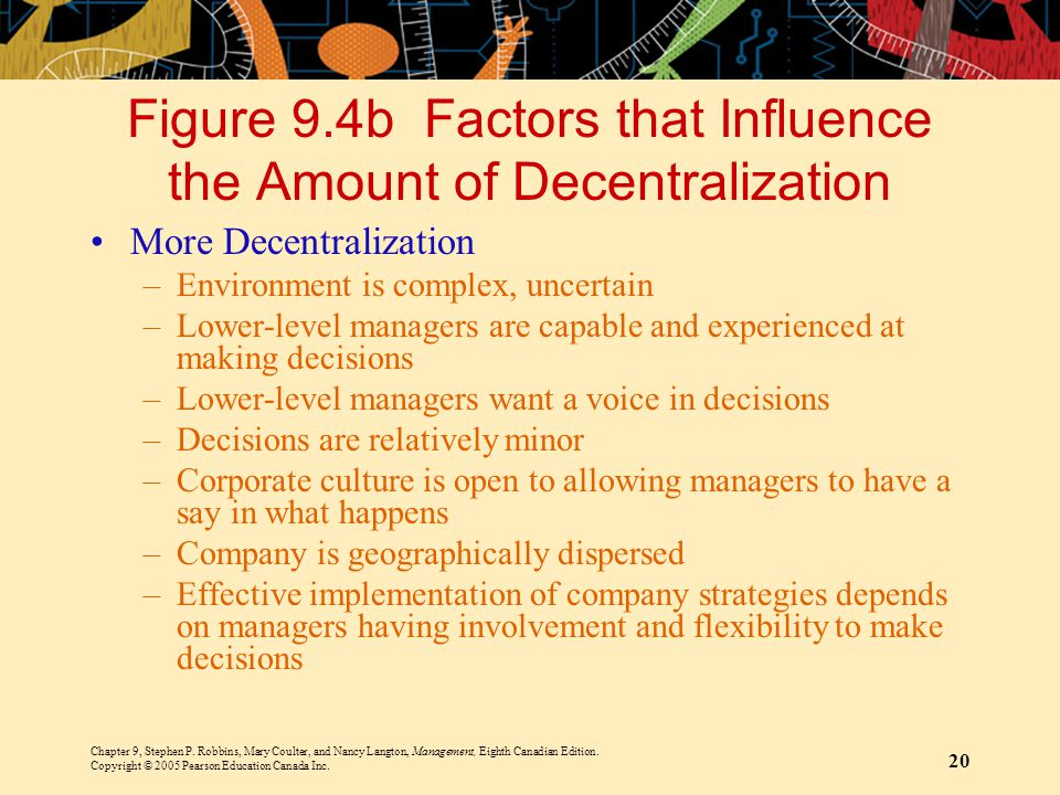 Figure 9.4b Factors that Influence the Amount of Decentralization