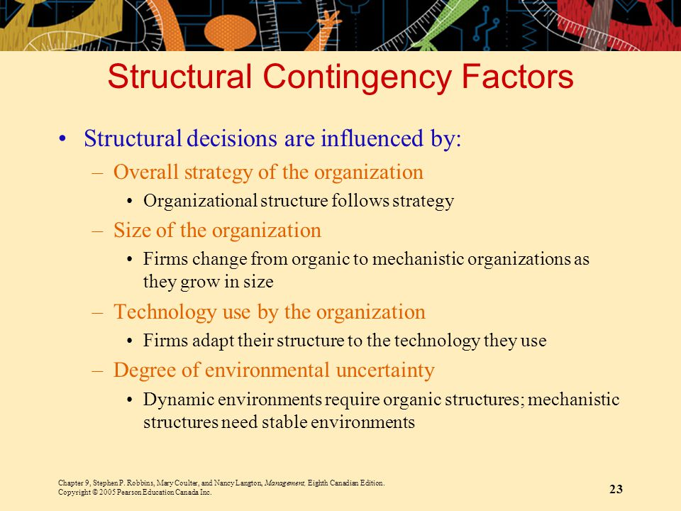 Structural Contingency Factors