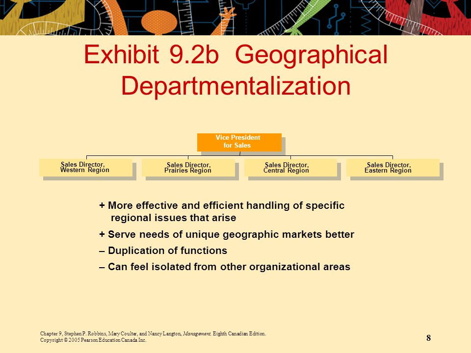 Exhibit 9.2b Geographical Departmentalization