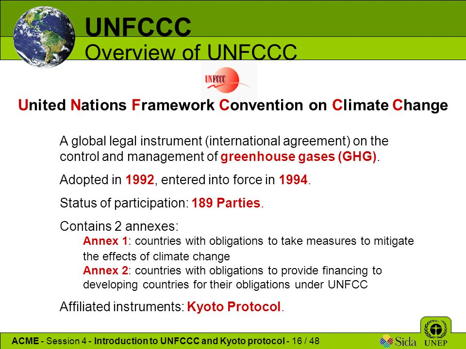 Introduction To Unfcc Kyoto Protocol Ppt Download