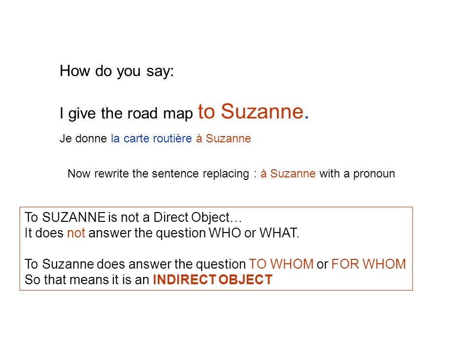 I give the road map to Suzanne.