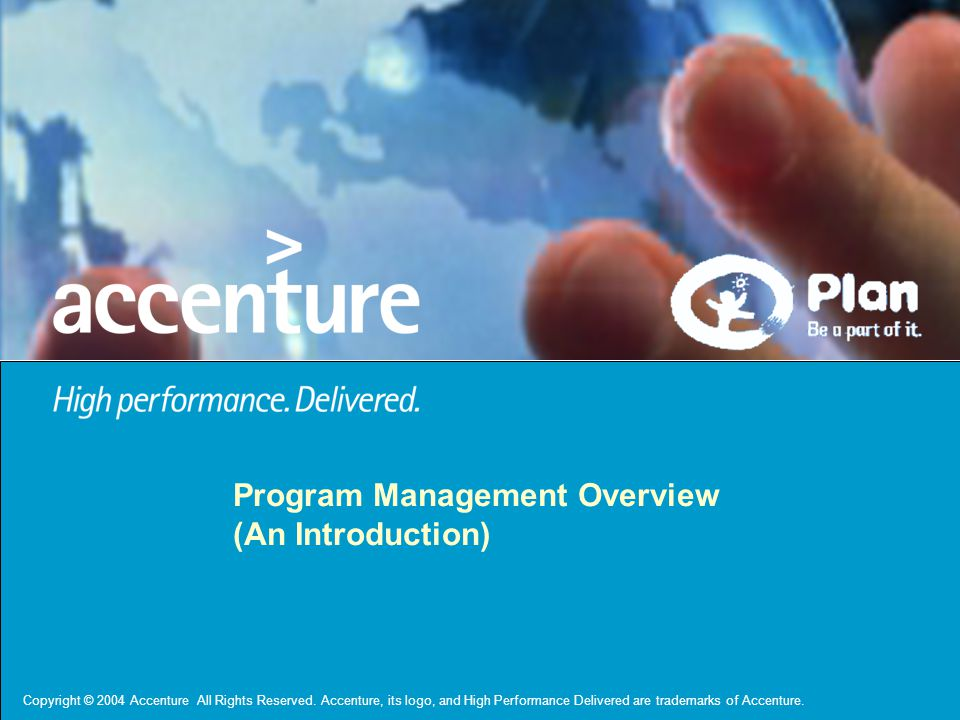 Program Management Overview (An Introduction)