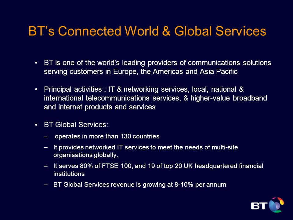 BT (Global Services) Transforming to SOA  - ppt video online
