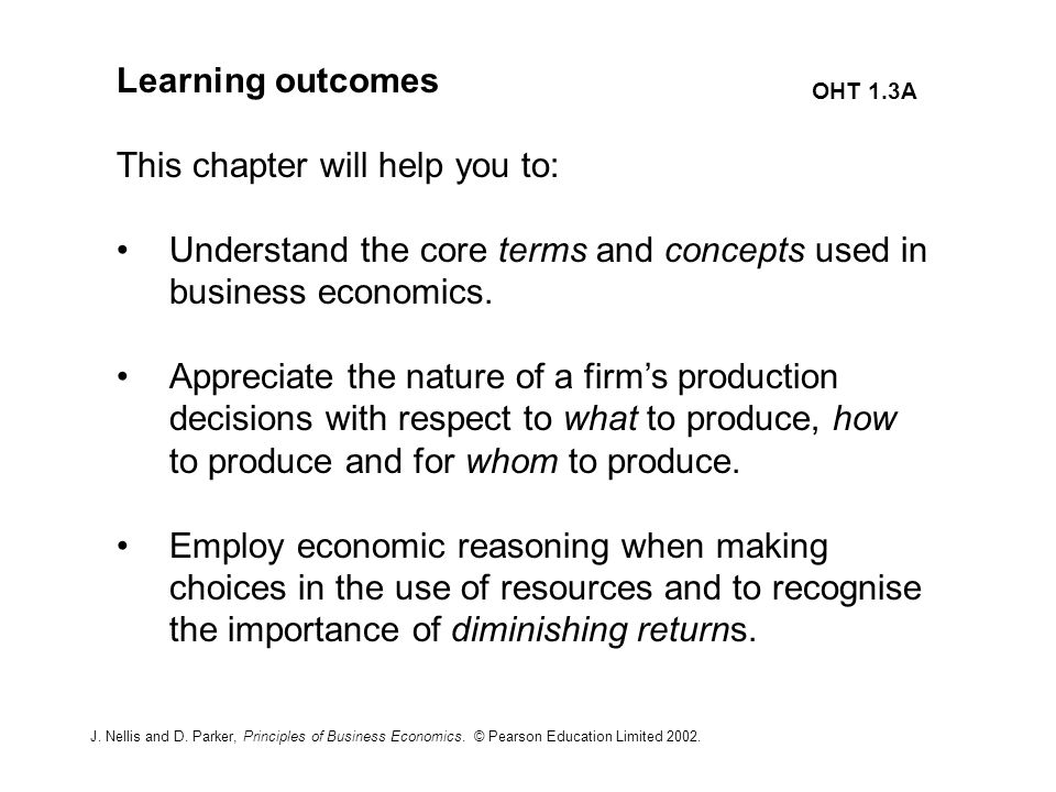 nature and uses of business economics