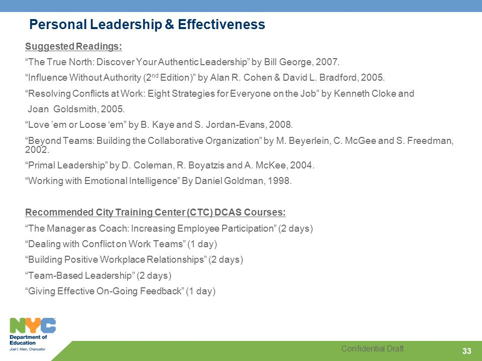 Table Of Contents Successful Leadership At The Doe Ppt Download