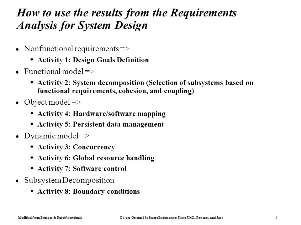 System Design Chapters 6 7 Object Oriented Software Engineering Ppt Download