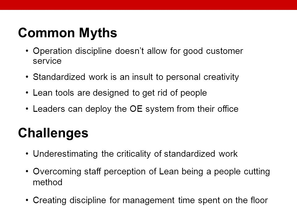 Common Myths Challenges