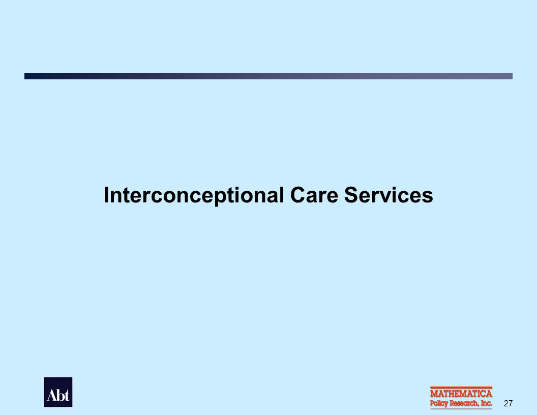 Types of Interconceptional Care Services that Grantees Offered, 2003 (n = 95)