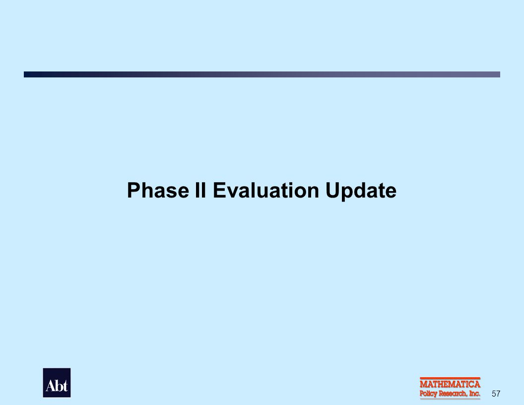 Phase II Evaluation Goals