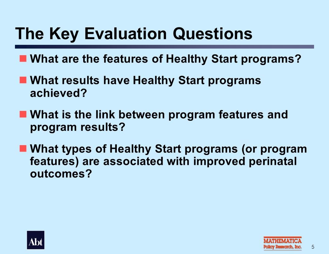 National Survey of Healthy Start Programs