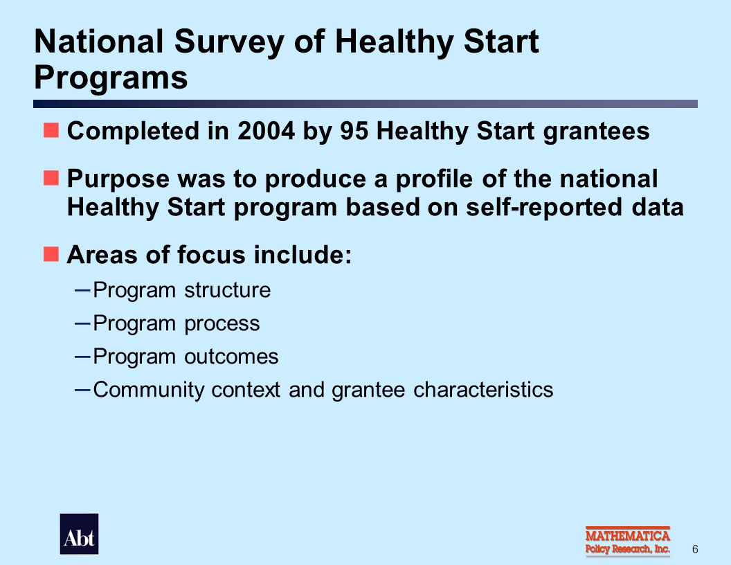 Profile of Healthy Start Grantees