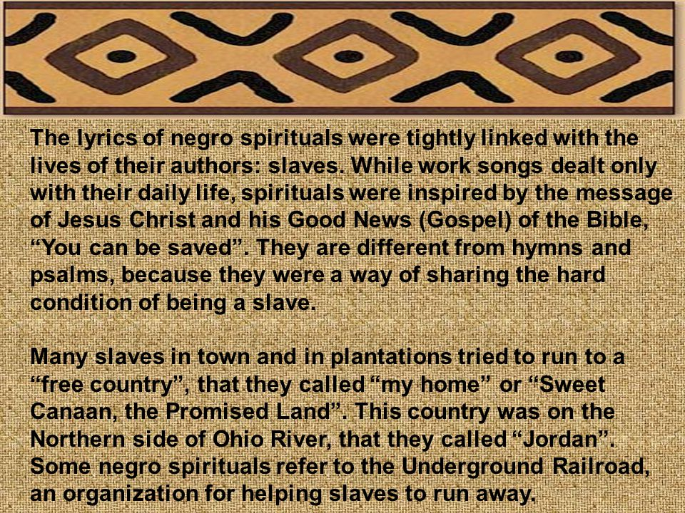 The History and Evolution of the Negro Spiritual - ppt video ...