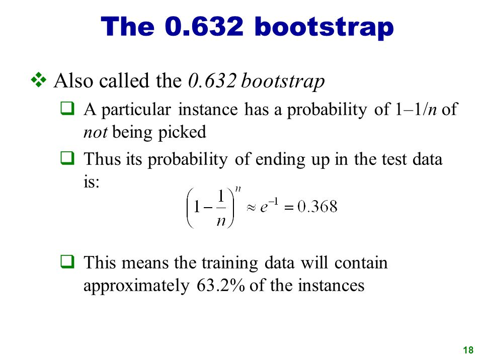 The bootstrap Also called the bootstrap