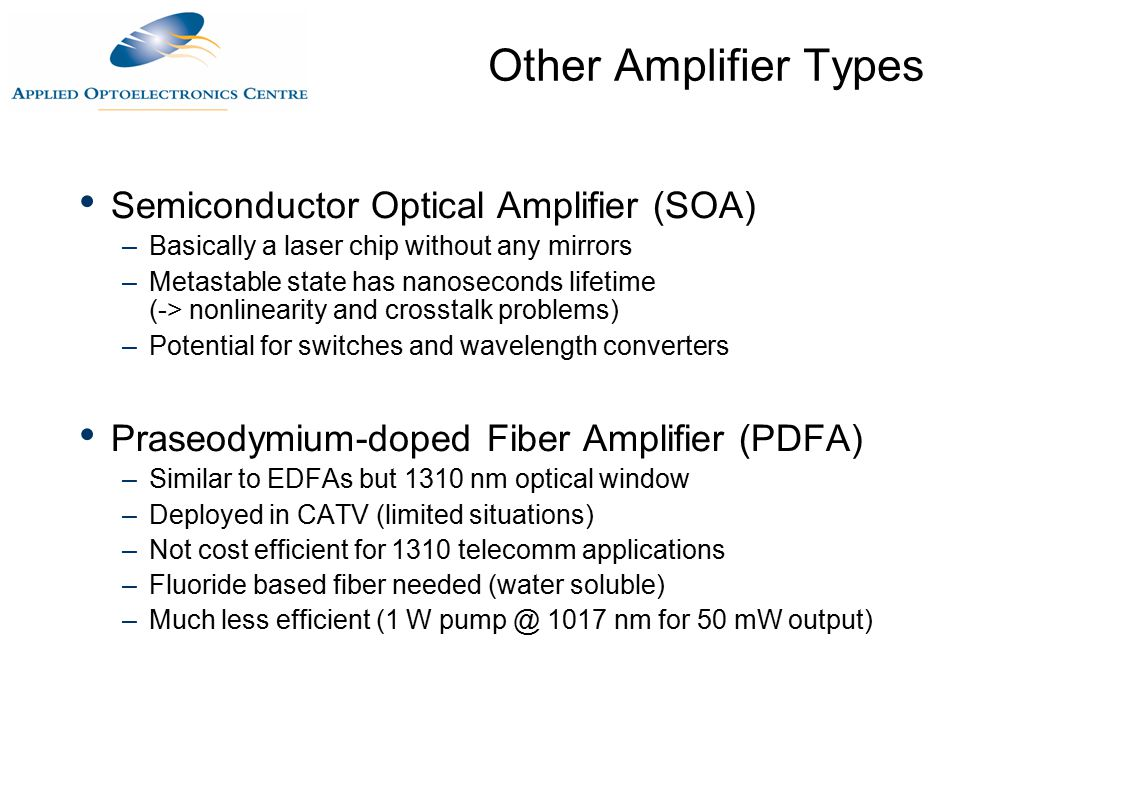 Optical Amplification Ppt Download