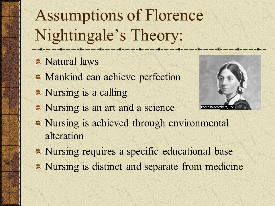 assumptions of florence nightingales theory