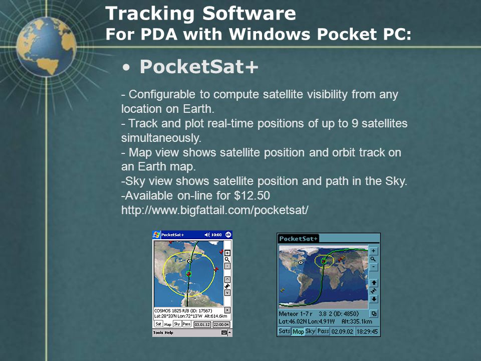 Tracking Software For PDA with Windows Pocket PC: