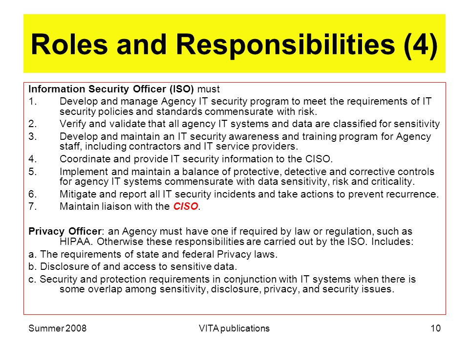Roles And Responsibilities 4
