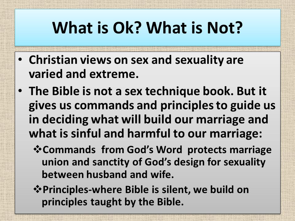 Christian view of sexuality