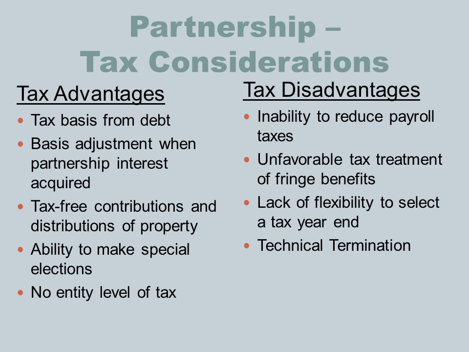 Partnership – Tax Considerations